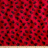 Velboa Smooth Wave Prints Paw Red
