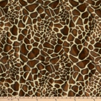 Fabric Base Velboa Smooth Wave Prints Giraffe Safari