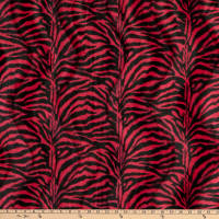 Velboa Smooth Wave Prints Zebra Red Small