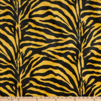Fabric Base Velboa Smooth Wave Prints Zebra Yellow