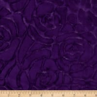 Shannon Minky Luxe Cuddle DemiRose Eggplant