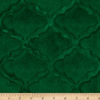 Shannon Minky Luxe Cuddle Lattice Emerald