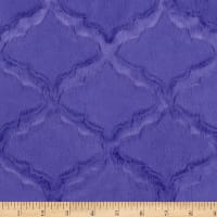 Shannon Minky Luxe Cuddle Lattice Perwinkle