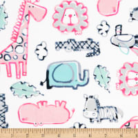 Shannon Studio Digital Minky Cuddle Safari Dreams Pink