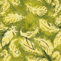 Island Batik River Valley Tossed Feather LemonLime