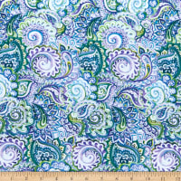 In The Beginning Digital The Leah Collection Paisley Blue