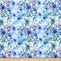 In The Beginning Digital The Leah Collection Allover Floral Blue