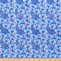 In The Beginning Digital The Leah Collection Large Magnolia Blue