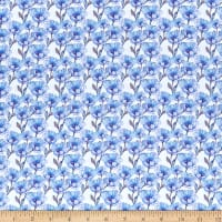 In The Beginning Digital The Leah Collection Small Magnolia Blue/White