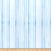 In The Beginning Digital The Leah Collection Stripe Blue/White