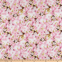 In The Beginning Fabrics Pretty In Pink Large Blossoms Pink