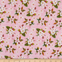 In The Beginning Fabrics Pretty In Pink Medium Blossoms Pink