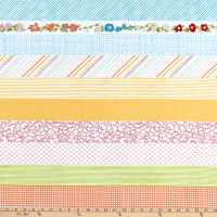 "Loralie Designs Joy Journey 24"" Strip Panel Multi/White"