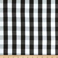 Girl Charlee Cotton Jersey Knit Buffalo Plaid Black White