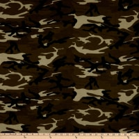 Girl Charlee Cotton Jersey Knit Camo Green Brown