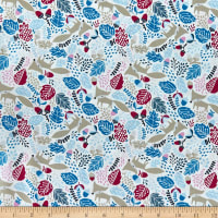 Felicity Fabrics Burgess Fields Foxes Petunia