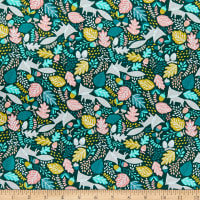 Felicity Fabrics Burgess Field Foxes Begonia