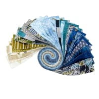 "Maywood Studio Precut Turtle Bay 2.5"" Strips 40pcs Multi"