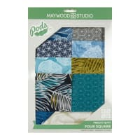 Maywood Studio Pod Turtle Bay Four Square Quilt Kit Multi