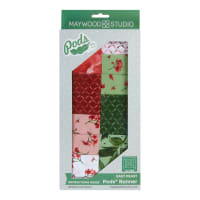 Maywood Studio Pods Prose Log Cabin Table Runner Kit Multi