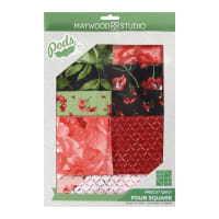 Maywood Studio Pods Prose Four Square Quilt Kit Multi