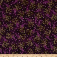 Maywood Studio Amour Single Paisley Deep Plum