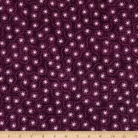 Maywood Studio Amour Tiny Flowers Deep Plum