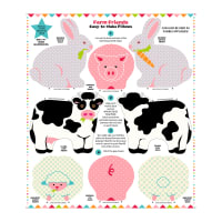 "Snuggle Pillows 36"" Panel Farm Friends"
