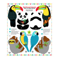 "Snuggle Pillows 36"" Panel Rainforest Friends"