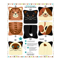 "Snuggle Pillows 36"" Panel Kitty Friends"
