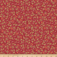 Avignon Scroll Floral Red
