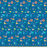 Florabelle Birds In Birdcages Medium Blue