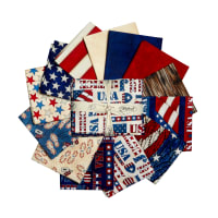 "American Honor 12 Assorted Fat Quarters + 24"" Panel"