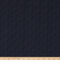 Italian Designer Cotton Broadcloth Micro Paisley Navy/Grey
