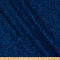 French Designer Jacquard Knit Swirls Dark Blue