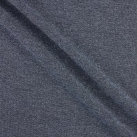 Italian Designer Lurex Pique Knit Navy Blue Metallic