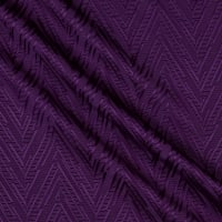 French Designer Brocade Abstract Eggplant