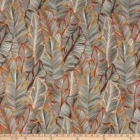French Designer Viscose Challis Feathers Autumn/