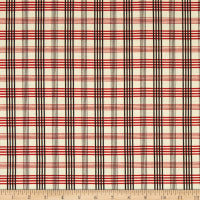 Chloe Italian Designer Cotton Lawn Red/Cream/Black