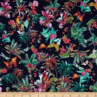 German Designer Viscose Crepe Tropical Parrot Multi