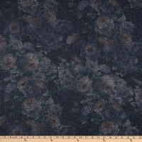 Italian Designer Boiled Wool Knit Coating Floral Beige/Teal/Charcoal/Black