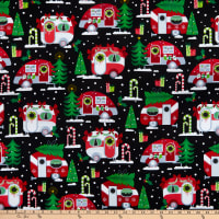 Camp Joy Christmas Campers Black