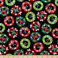 Kanvas Camp Joy Holiday Wreaths Black