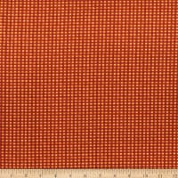 Benartex Rustic Fall Fall Gingham Orange