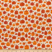 Benartex Rustic Fall Rustic Pumpkin White Wash