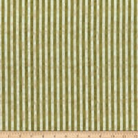 Benartex Winterberry Textured Stripe Green/Cream