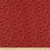 Benartex River's End River's End Dotted Scroll Red