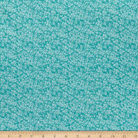 Benartex River's End River's End Floral Scroll Turquoise