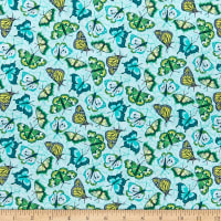 Benartex Under the Sun Butterflies Mint