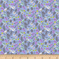 EXCLUSIVE Kaufman Hello Lucky! Lawns Floral Periwinkle